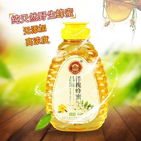 昌田蜂蜜 天然农家自产野生纯蜜土蜜 洋槐花蜂蜜450ml