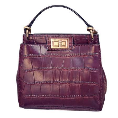 Global Freeman 全球自由人新款时尚石头纹锁扣手提女包包 98250