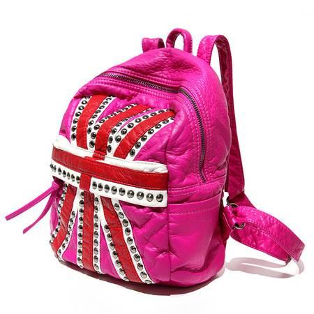 自由人新款潮韩版背包铆钉双肩包英伦学院风包包