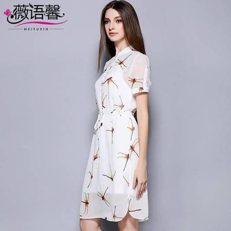 薇语馨 2019 夏季新品欧美气质优雅修身连衣裙
