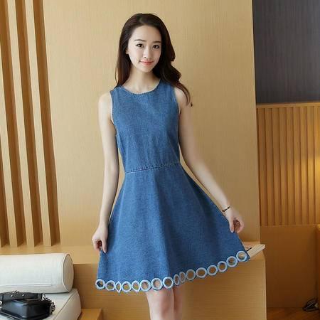 缔五季 4181 新款韩版修身显瘦时尚中长款大摆裙