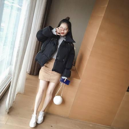 缔五季 820 短款棉衣女长袖外套棉袄韩版修身显瘦面包服