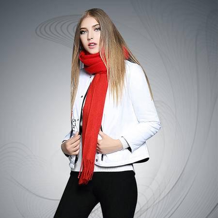 薇语馨 1771加厚立领印花夹棉正反两穿保暖棉衣外套