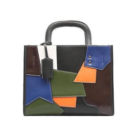 GLOBAL FREEMAN  98458 欧美时尚彩色拼接手提单肩斜挎包