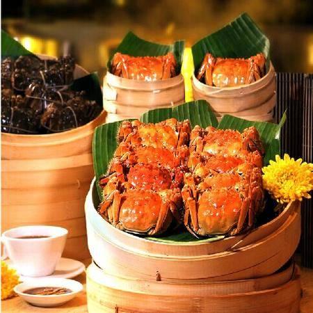 [巢湖牌]大闸蟹公蟹约4.5两母蟹约3.2两螃蟹鲜活水产8只装