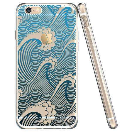 ESR亿色 iPhone6/6S手机壳4.7新款创意图腾 苹果六手机套复古防摔 图腾系列-和风碧浪