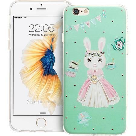 ESR亿色 iPhone6手机壳 苹果6s超薄硅胶套韩国可爱卡通浮雕软壳 缤纷奇趣-邦尼茶屋