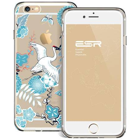 ESR亿色 iPhone6/6S手机壳4.7新款创意图腾 苹果六手机套复古防摔 图腾系列-镜花鹤舞