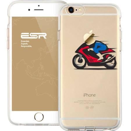 ESR亿色苹果iphone6s plus透明简约硅胶软手机壳追风骑士 4.7/5.5