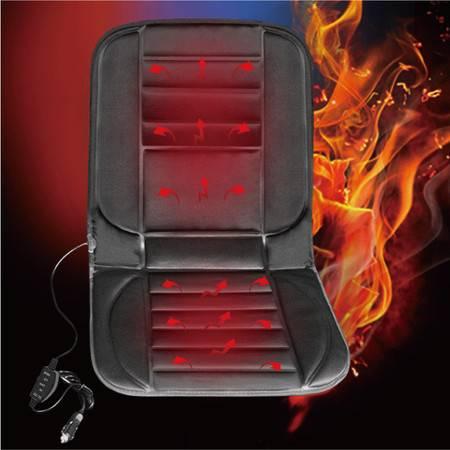 Racing 针织布冬季保暖12V汽车加热坐垫 四季通用座垫