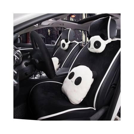 Racing熊出没毛绒汽车坐垫 免绑座垫 汽车用品座套送方向盘