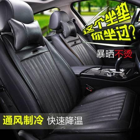 Racing通风汽车坐垫夏季空调冷风座椅按摩加热四季通用座垫凉垫