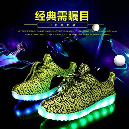 童鞋运动鞋2016新款男童女童休闲鞋韩国外贸原单儿童灯鞋发光鞋