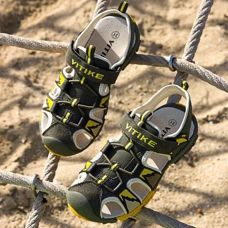 2016夏季新款童鞋凉鞋沙滩鞋外贸原单男童真皮凉鞋