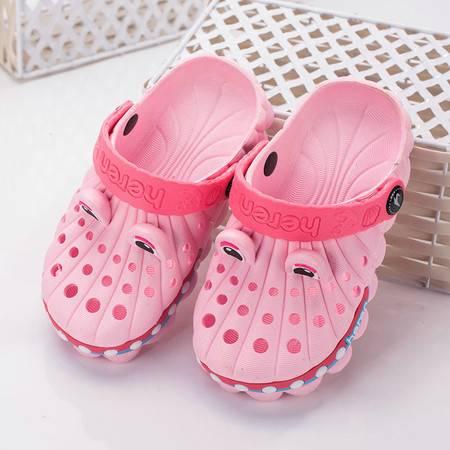买5送1 买10送3宝宝洞洞鞋夏季包头拖鞋男童女童童鞋宝宝软底防滑儿童拖鞋