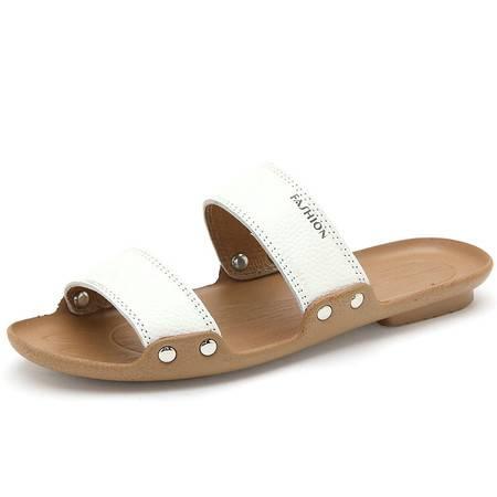 夏季凉鞋日常休闲透气鞋沙滩鞋防滑凉拖鞋头层牛皮鞋