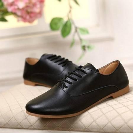 明星同款小白鞋休闲鞋女运动鞋厚底系带单鞋小白鞋平底板鞋女韩版潮