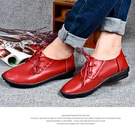 精致舒适女鞋韩版潮真皮性感小皮鞋优质防滑小皮鞋