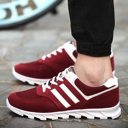 新款休闲鞋英伦风潮流时尚系带跑步鞋低帮舒适潮鞋