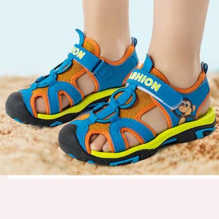 童鞋凉鞋2016夏季新款男女童沙滩鞋包头凉鞋韩国外贸原单厂家直销