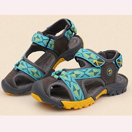 童鞋凉鞋男童2016夏季新款儿童沙滩鞋真皮韩国外贸原单厂家直销