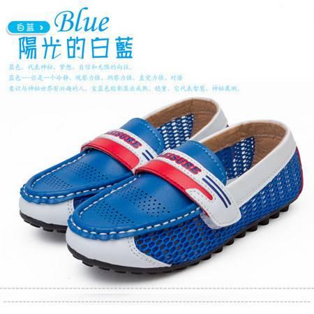 童鞋夏季新款2016韩国外贸原单休闲鞋男童网布鞋透气单鞋厂家直销