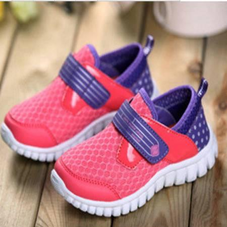 童鞋2016夏新款儿童运动鞋透气鞋外贸原单男童女童单网鞋厂家直销
