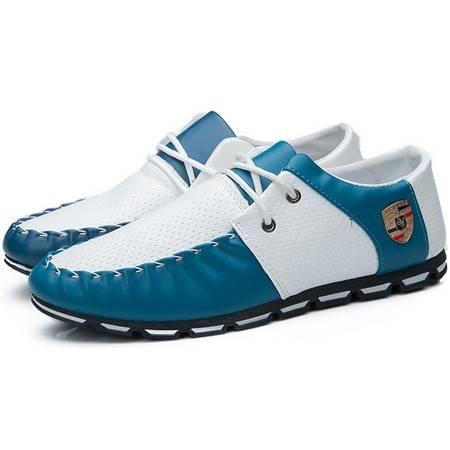 016新款男士休闲鞋商务皮鞋 豆豆鞋英伦潮鞋板鞋 休闲鞋