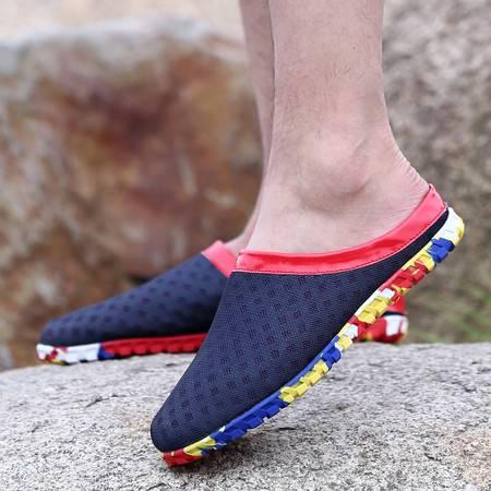 2016夏天男鞋休闲鞋网面鞋子夏季透气男跑步网鞋网布旅游鞋沙滩鞋