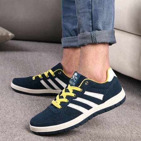 春夏新品透气英伦男士帆布鞋休闲鞋韩版潮低帮学生板鞋脚蹬男单鞋