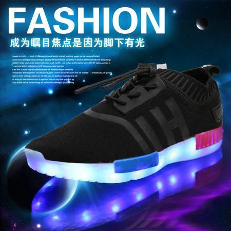 发光童鞋男童女童usb充电led带灯鞋