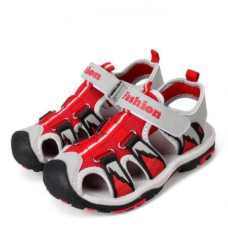 中童凉鞋包头男童沙滩儿童男款夏天学生童鞋