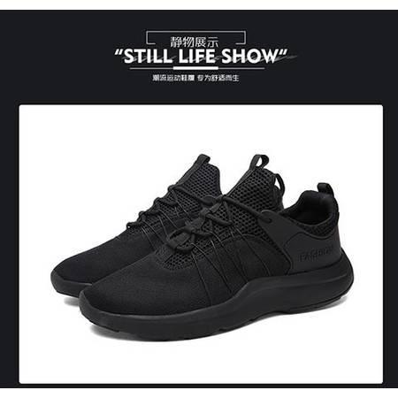 夏季男鞋男士运动休闲鞋增高网面鞋潮跑步鞋
