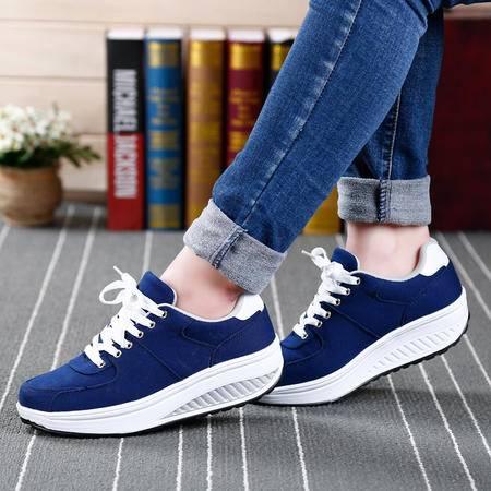 2016春夏新款韩版气垫鞋休闲鞋运动鞋女鞋透气摇摇鞋厚底跑步鞋子