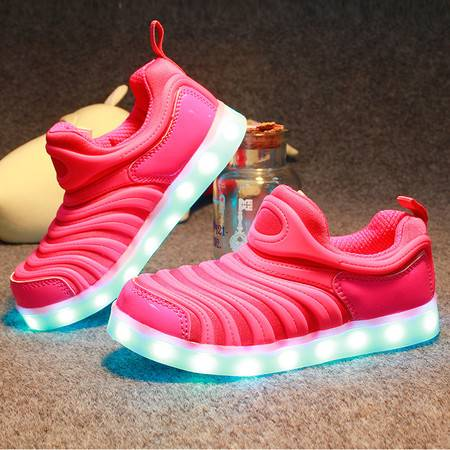 新款七彩LED鞋男女夜光板鞋学生USB充电鞋休闲情侣跑马灯发光鞋子
