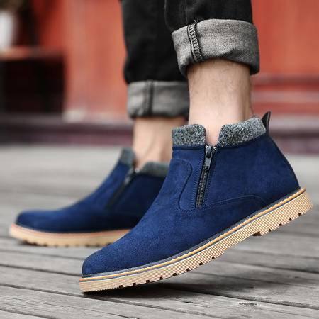 男士英伦男靴加绒棉鞋短靴冬季雪地鞋沙漠靴男鞋
