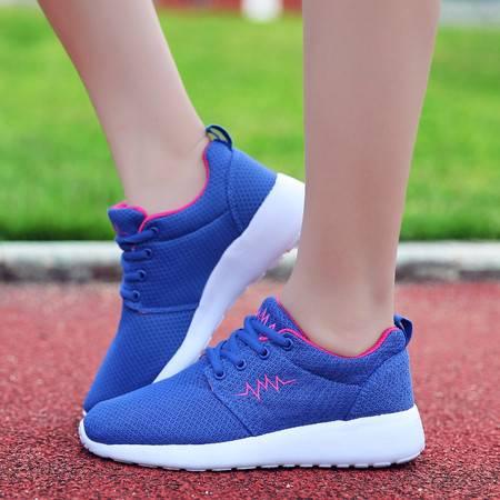 夏季男鞋跑步鞋男运动鞋轻便透气休闲情侣网鞋网面减震跑鞋