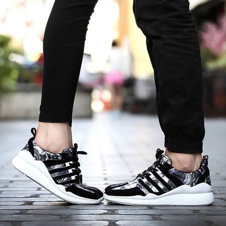 飞线核技术休闲男女鞋运动跑步鞋PU底气垫旅游情侣鞋潮鞋