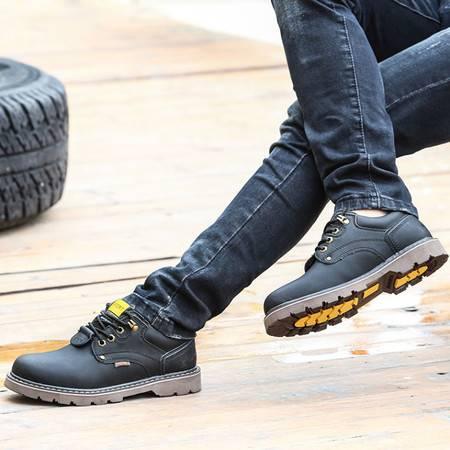 2016秋季男士休闲鞋低帮工装鞋大头鞋二层牛皮鞋英伦马丁鞋潮鞋
