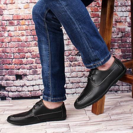 皮鞋男商务休闲皮鞋单鞋