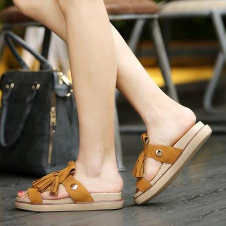 一字拖凉拖鞋女夏时尚