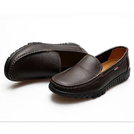 夏季英伦风潮流男鞋子男士休闲豆豆鞋开车单鞋青年潮鞋商务小皮鞋