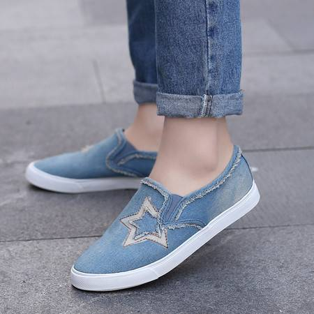 学生一脚蹬懒人鞋单鞋平底板鞋