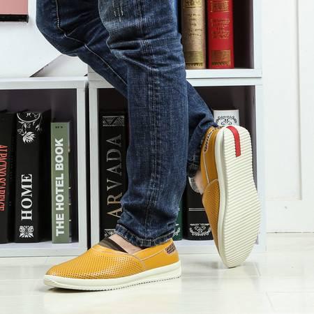 夏季板鞋男士休闲鞋韩版潮流商务皮鞋青年潮鞋时尚百搭低帮男鞋子
