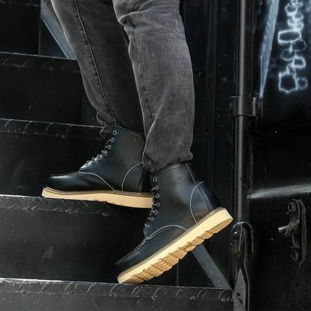 马丁靴男英伦高帮鞋真皮靴子男短靴加棉鞋大头工装靴男鞋冬季潮鞋