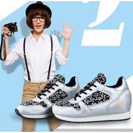 夏季透气网布鞋厚底跑步鞋单鞋女