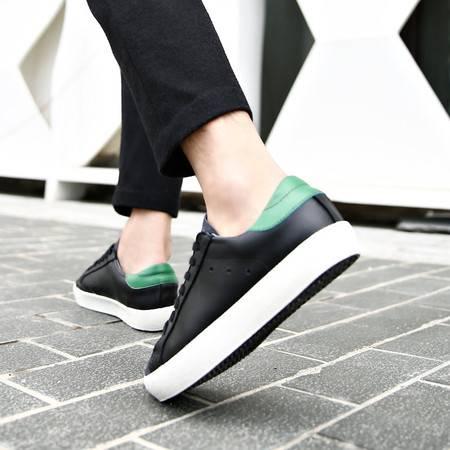 夏季男士休闲鞋板鞋青年皮鞋男鞋韩版反绒皮真皮鞋子潮增高鞋