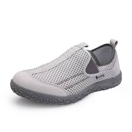 夏季网鞋男士套脚运动鞋情侣鞋网布透气懒人板鞋韩版休闲鞋男鞋子