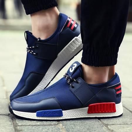 男鞋运动休闲网鞋男士春夏季透气套脚网布鞋跑步鞋子