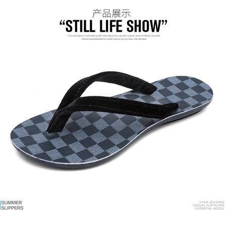 拖鞋男夏季人字拖男士韩版个性简约沙滩鞋夏天学生潮流防滑凉拖鞋